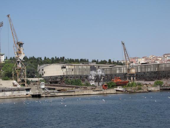 derelict shipyards